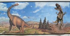 PEEL & STICK ROOM MATES DINOSAURS wallpaper border 5""