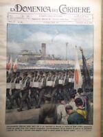 La Domenica del Corriere 19 Giugno 1938 Predappio Stabile Cubi Curzola Zeppelin