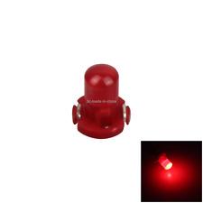 1x Red AUTO T3 Lamp NEO Dash Twist Socket HVAC Panel Light 1 LED Z2954