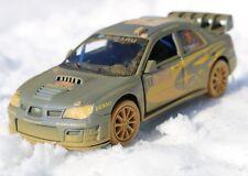 Subaru Impreza WRC 2007 Rallye  Modellauto mit Schlamm 1:36  Solberg dreckig NEU