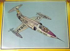 Lockheed F-104 G STARFIGHTER USAF Jet Flugzeug set Farbbild picture ax