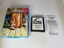 PAL VERSION CALIFORNIA GAMES CIB  FOR ATARI 2600 ( NOT FOR USA OR CANADA)