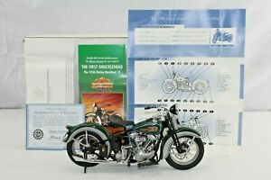 HARLEY DAVIDSON 1:10 SCALE FRANKLIN MINT EL KNUCKLEHEAD DIECAST MOTORCYCLE 1936