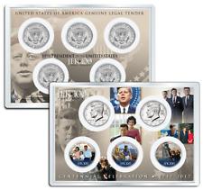 JOHN F. KENNEDY JFK100 Birthday 2017 JFK Half Dollar 5-Coin Set LIFE & TIMES 4x6