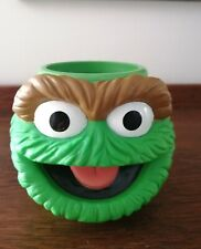Vintage Applause Oscar the Grouch Sesame Street 1994 Henson Small Cup Mug GUC