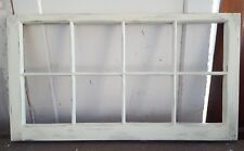 Architectural Salvage ~ 8 PANE OLD WINDOW SASH FRAME PINTEREST IVORY 36X20