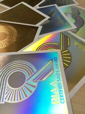 1 PLATINUM RIAA HOLOGRAM 90's (ORIGINAL STICKER)
