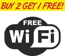 Wifi gratuit signe pub shop hotel cafe restaurant autocollant vinyle fenêtre autocollant voiture