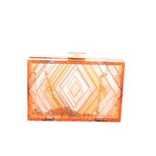 RRP €3445 VALENTINO GARAVANI NATIVE COUTURE Clutch Bag Chain Strap Made in Italy