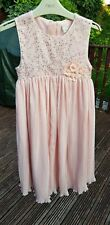 Girls Pink Embellished Sequin Party Bridesmaids Dress Size 8 Years