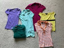 BRIGHT SUMMER NEON 6 PIECE JUNIORS WOMENS CLOTHES VINTAGE 2000'S TOPS LOT XS