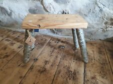 Vintage Pine Wooden Milking Stool