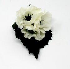 White Flowers Boutonniere, Wedding Accessories, Prom Accessories White/Black