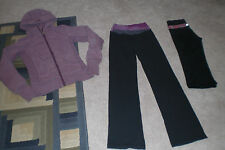 Lot of Lululemon Luon Astro Pants, Hoodie and Groove Crops  sz 2