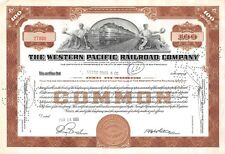 The WESTERN  Pacific Railroad Compagny Certificate 100 shares  1951 (7890)