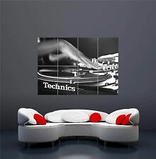 TECHNICS SL 1210 SCRATCH DJ DECKS TURNTABLES GIANT NEW ART PRINT POSTER OZ645