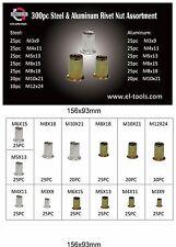 Qty 300 Pce Nutsert Kit M3 To M12 Zinc Large Flange AL Series Rivnut Nut #35