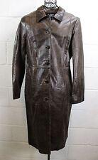$598 LAUNDRY Shelli Segal Brown Leather Quarter Length Jacket Coat 12 L NWT