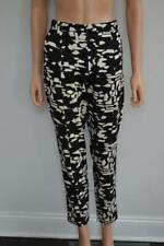 Chloe Black/White Print w/Gold Ankle Zipper Pants Size L