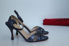 New sz 5 / 35.5 Christian Louboutin Trezuma Blue Open Toe Sandal Pump Shoes