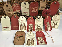 Craft East of India Larger Christmas Gift Tags Labels Gift Wrapping Free P&P