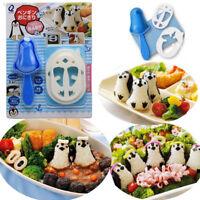 Kitchen Penguin Sushi Maker Mold Sandwich Rice Ball Mould Bento Punch Gadgets