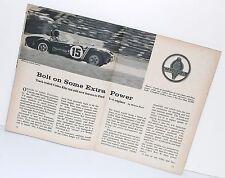 Original 1965 Carroll Shelby AC Cobra Magazine Brochure Ford Times SCCA Racing