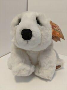 "Lou Rankin Polar Bear Plush Fairbanks Jr White 9"" Soft Toy Stuffed Animal Dakin"