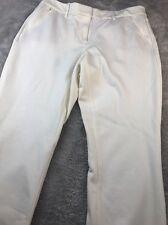 WHBM white skinny leg pants Sz 10 Reg flat front flat back Zip pockets nautical