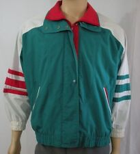 Teal Clipper Mist Large Lightweight Jacket Red White Accents Londontown Unisex