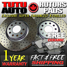 S0981 FITS 2004 2005 2006 2007 2008 ACURA TSX CROSS DRILLED BRAKE ROTORS PADS F