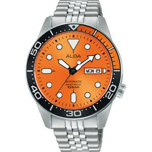 Alba Active Men's Automatic Watch with Orange Dial AL4189X1