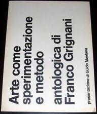 Franco Grignani Arte come sperimentazione e metodo Marcon IV Roma 1974