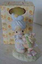 Precious Moments Figure 1979 Be Not Weary In Well Doing Girl Helper With Box