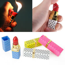 Women Lipstick Shaped Design Lady Cigarette Refillable Butane Torch Lighter Gift