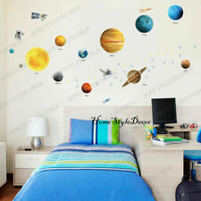Solar System Space Ship Rocket Kids Bedroom Children Wall Stickers Decor