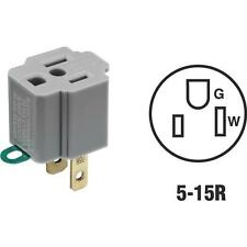 120 Pk Leviton Gray 15 Amp 120V Grounding Cube Tap Outlet Adapter 028-274