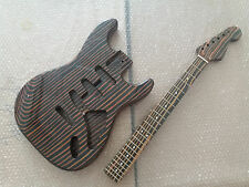 Zebra wood electric guitar body and neck Excellent parts