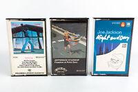 Billy Joel, Jefferson Starship & Joe Jackson: Pop Rock Cassette Tapes Lot of 3