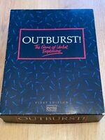 Vintage Parker Outburst Board Game First Edition 1986 100% Complete VGC Games