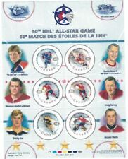 50th NHL All Star Game Souvenir Sheet, Gretzky Orr Rocket Richard Plante, No Tax