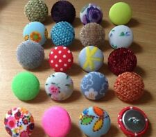 10 Buttons Covered in Your Own Fabric -  30L (19mm approx) Metal Loop Back