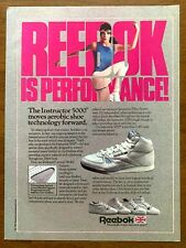 1987 Reebok Instructor 5000 Aerobic Shoe Vintage Print Ad/Poster 80s Sneakers
