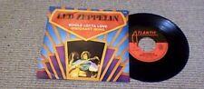 "LED ZEPPELIN WHOLE LOTTA LOVE BELGIUM PS 45 7"" 1979 Jimmy Page Artwork"