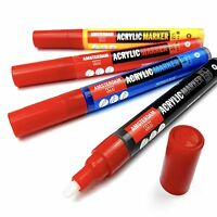 Royal Talens - Amsterdam Acrylic Paint Marker - Medium 4mm Tip - Intro Pack of 4