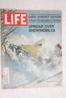 Life 1971 February Uproar Snowmobiles Larry Burrows' Vietnam Photo Folio - M07