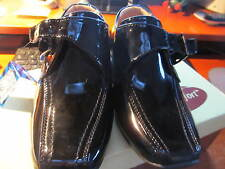 BOYS BLACK PATENT SHOES SIZE 13 - BOXED   NEW WITH TAGS