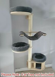 Handmade DARK GREY Cat Bed Replacement Set for Natural Paradise Wall Cat Tree