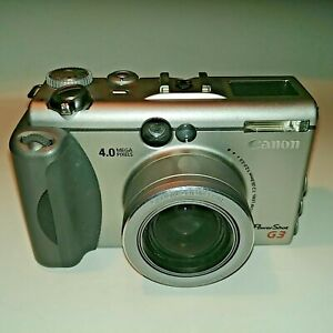 Canon PowerShot G3 4.0 MP Silver Digital Camera Made in Japan, Untested & As Is