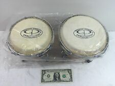 GP Percussion B2 Pro-Series Tunable Bongos 6 & 7 Inch - made with Hickory